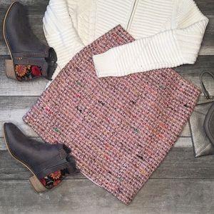 {Ann Taylor} wool blend tweed skirt